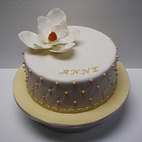 Southern Magnolia flower cake