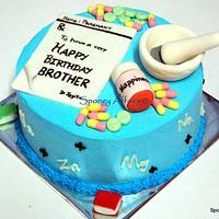 Pharmacy themed cake