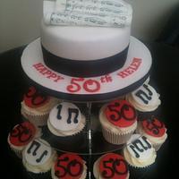musical cake & cupcakes