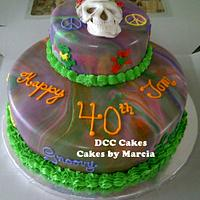 Grateful Dead Male Birthday Cake by DCC Cakes, Cupcakes & More...
