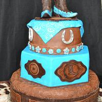 Astounding Western Cowgirl Birthday Cake Cake By Jenny Kennedy Cakesdecor Personalised Birthday Cards Bromeletsinfo