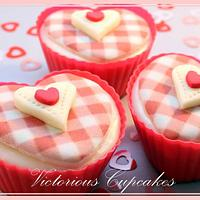 Valentines Cupcakes by Victorious Cupcakes
