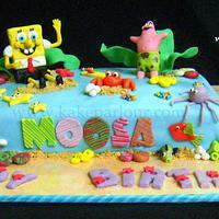 Sponge Bob Cake by tahiraimran