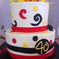 40th bday cake by Rebecca Litterell