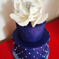Wedding blue cake