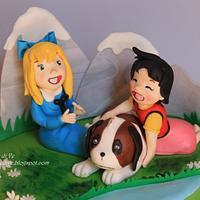 Heidi cake topper by le delizie di ve