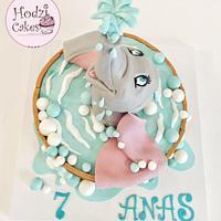 Dumbo Caie🐘💦💙 by Hend Taha-HODZI CAKES