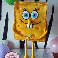 Spongebob antigravity cake