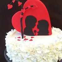 S. Valentine´s cake