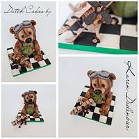 Aviation Bear - TEDDY BEAR CHALLENGE  by Karen Dodenbier