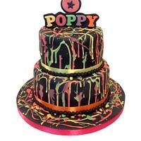 UV Paint Splatter Cake