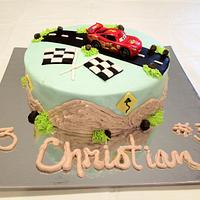 Cars Themed cakes for Twins 3rd birthday