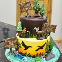 Hunting Themed Grooms Cake