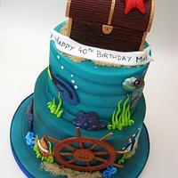Tropical/Marine Underwater Birthday Cake