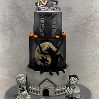 Tim Burton Themed 21st Cake