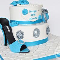 Shoe and handbag cake