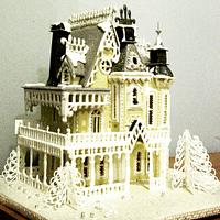 Gingerbread house challenge collaboration - art nouveau gingerbread mansion