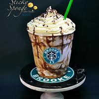 Starbucks large Frappuccino cake