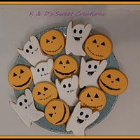 Halloween and monogram cookies