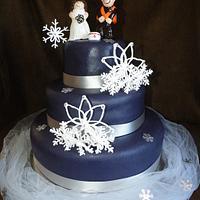 Kaley & David's Wedding Cake