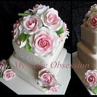 Bernadeines Wedding Cake by My Cake Obsession
