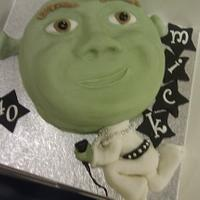 Shrek Elvis cake