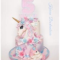 Unicorn cake by Karen Dodenbier