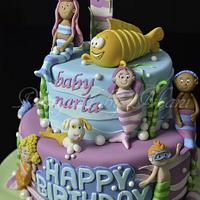 bubble guppies 1st birthday cake by designed by mani