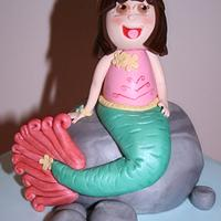 Mermaid Dora the Explorer Cake