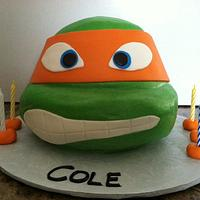 TMNT - Michaelangelo Cake