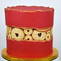 Jammie Dodgers Fault Line Cake