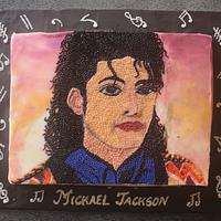 Michael Jackson Pointillism Cake - Gone Too Soon Collaboration
