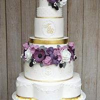 Purple Luxe Wedding Cake