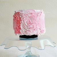 Whipped cream ruffled big rosettes !!