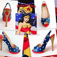 Wonder Woman: Comic book themed shoe collection for Cake Masters fashion issue 21, June 2014
