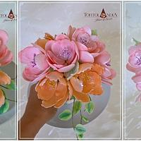 Pastel sugar bouquet