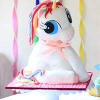 3D Rainbow Unicorn cake!!!
