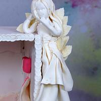 Caker Buddies Cake Collab - An Angel's Abode by Cake Sapphire by Cakesapphire