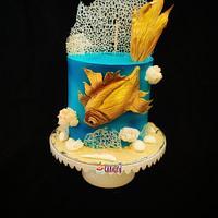 Fish theme cake by Nikita shah