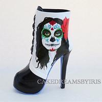 High heel Sugar Skull boot