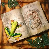For the lady who loves..Red eyed tree frogs and teaches Biology!