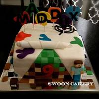 Paintball - Minecraft Party Cake