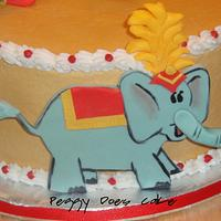 """Circus Cake (from the book """"Monsters Birthday Party"""") by Peggy Does Cake"""