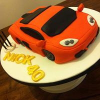 McClaren 12C 40th birthday car cake