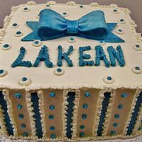 Gift Box cake in buttercream