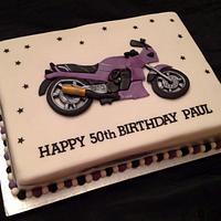 2d Motorcycle Birthday Cake