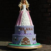 Barbie Castle Cake