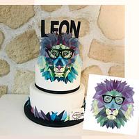 Modern Lion Cake