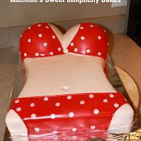 Red Bikini Cake