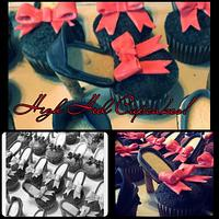 high heel cupcakes by amber hawkes
